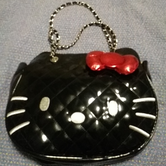 a59313bf7 Hello Kitty Bags | Black Quilted Bag | Poshmark
